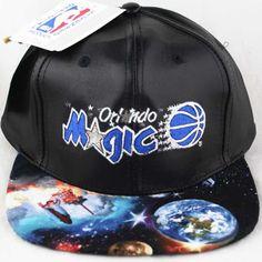 newest 2a17b b515b Vintage Orlando Magic Galaxy Custom Leather Snapback  45. Quent Lat ·  Snapbacks Fedoras Caps Beanies · NBA Mitchell And Ness ...