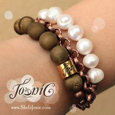 TRIO Nude Lee bracelets, an Xpression of John 3:16 Learn more or Shop now at www.sheisjonic.com