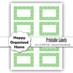 Instant Download  Quatrefoil Printable by HappyOrganizedHome, $4.00
