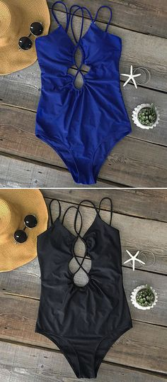 $21.99 Only with free shipping&easy return! We are super excited about this new arrival! This strappy one-piece detailed with tie at back&high leg cut! Enjoy the sunshine with Cupshe.com
