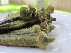 Healthy Baked Whole Okra Recipe with Olive Oil and Sea Salt | #food #okra #healthy #recipe