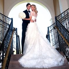 Ivanka Trump one of my favorite celebrity weddings. Obsessed with her dress