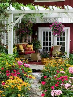 Tours: 4 Distinctive Designs Hubs and I are both pretty hooked on the idea of a pergola in the backyard, in some form.Hubs and I are both pretty hooked on the idea of a pergola in the backyard, in some form. Outdoor Rooms, Outdoor Gardens, Outdoor Living, Outdoor Patios, Outdoor Sheds, Outdoor Kitchens, Garden Cottage, Home And Garden, Garden Art