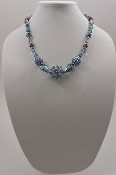 107 Blue Lavender Necklace 24' with earrings With Sets $30.00. Pin It coupon code (DDB6230) 10% discount off purchase.