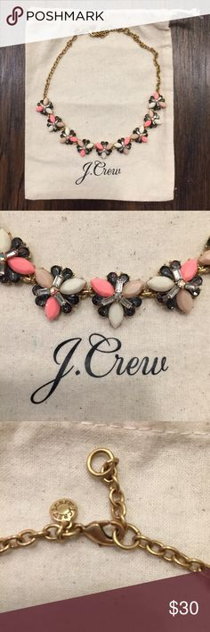Jcrew Necklace NWOT Cut tags off but never wore- I just have way too many sparkly Jcrew necklaces and need to downsize. Perfect condition. Comes with dust bag. Currently sold out online. Happy to answer questions. No trades! J. Crew Jewelry Necklaces