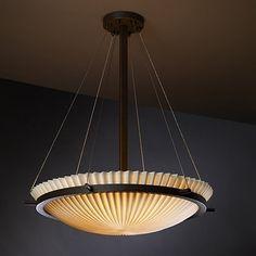 Justice Design Group PNA-9691-35 3 Light Porcelina Round Bowl Large Pendant