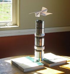 Almost Unschoolers: Simple Solar Thermal Projects for Kids - Solar Updraft Tower 촛불 대류현상이용-초, 깡통, 바람개비