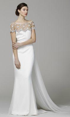 Elegant Off-the-shoulder Wedding Dress for Older Brides Over 40, 50, 60, 70. Elegant Second Wedding Dress Ideas.