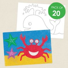 Sea Animals Sand Art Sheets - CleverPatch