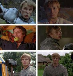 Arthur's face.