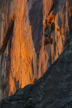 Fire on the Mountain by Joe Ganster  El Capitan, Yosemite Valley, California