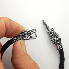 Runes Wolf Heads Bracelet Fenrir TOTEM BRACELET Sterling от RuyaN