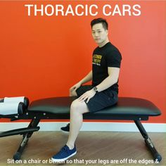 Thoracic Continuous Articular Rotations - Rotational Active Mobility Exercise to improve thoracic spine control and range of motion. Check out the link for 90 more exercises for the mid and low back Thoracic Outlet Syndrome Exercises, Thoracic Spine Mobility, David Songs, Couch Workout, Costochondritis, Movement Fitness, Strength Program, Printable Workouts, Back Pain Exercises