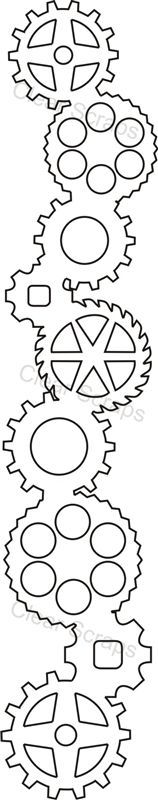 steampunk gear stencil - Google Search                                                                                                                                                      More