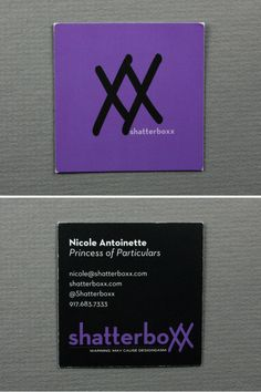 Shatterboxx / Nicole Antoinette  shatterboxx.com Unique Business Cards, Card Making, Design, Handmade Cards, Cards To Make, Letter Crafts