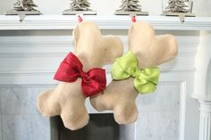 DOG Christmas Stocking. So getting it for Lenny and Buster!