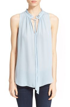 elizabeth and james katrina tie neck silk top available at nordstrom
