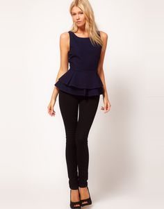 ASOS peplum top - Peplum fashion is such a big trend this season and we're loving it!