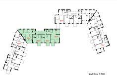 Image 14 of 16 from gallery of Ruotutorppa Social Housing / Arkkitehdit Hannunkari & Mäkipaja Architects. second floor plan