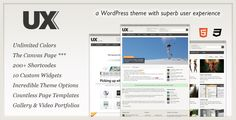 UX - a #Wordpress #theme with a great user experience $35
