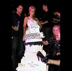Paris Hilton's shopping themed birthday cake.  www.gimmesomesugarLV.com