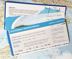 boarding pass wedding invitation - http://www.wedfest.co/airline-boarding-pass-travel-themed-wedding-invites/