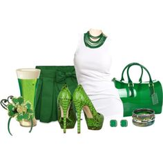 St. Patty's Fashion - 10 Fab Outfits: Kiss Me I'm Irish Celebrating St Patrick's day by arbbednnyl, via Polyvore