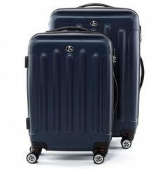 FERGÉ Zweier Kofferset LYON - ABS Trolley-Koffer dunkelblau Reisegepäck Koffer & Trolleys