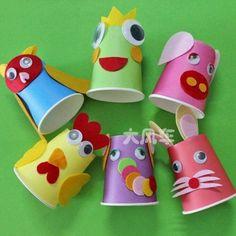 종이컵 만들기 저렴하고 손쉽게 구할수있는 종이컵으로 만든 다양한 만들기들입니다~ 동물캐릭터 참 귀엽죠...