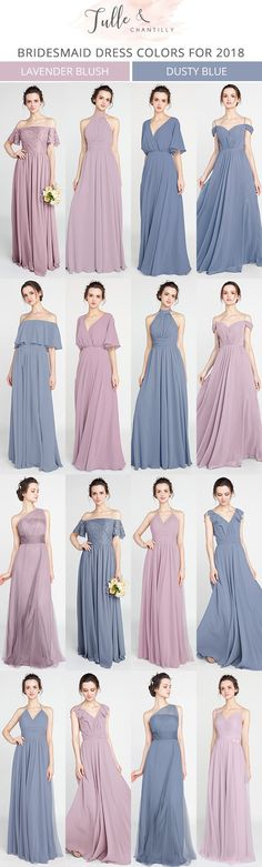 lanvender blush and dusty blue bridesmaid dresses for 2018