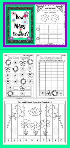 This Math unit has a spring flower theme. Your students will have fun counting flowers.