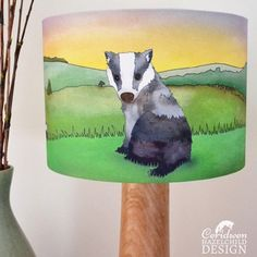 Good news - #Badger #Lampshades are now back in stock! Ceridwen Hazelchild Design