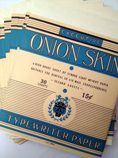 Typing on onion skin paper