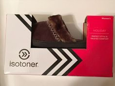 27.60$  Watch here - http://viyna.justgood.pw/vig/item.php?t=8tlu9z41775 - Isotoner Womens Slippers sz 8.5-9 Brown Suede Mules Clogs Slides New