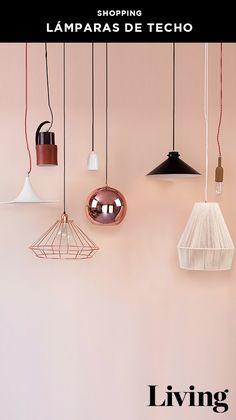 Lámparas de escritorio, de pie y colgantes en cobre, madera, blanco y negro. Mirá nuestra selección.