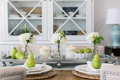 Thursday inspiration 🌱 This dreamy Hamptons dining setting features the Dover Tray, Bartlett Pears & our beautiful Hamptons Style candles (in Coconut & Lime . Dining Set, Dining Table, Thursday Inspiration, Design Palette, White Plates, Coastal Style, The Hamptons, Table Settings, Tray