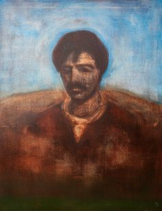 "Apostolis Itskoudis, ""Footballer"" (Ποδοσφαιριστής), acrylics on canvas, 70Χ90 cm, 2016."