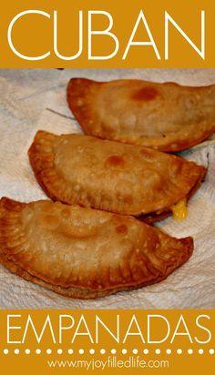 Cuban Empanadas 2 - I FINALLY found a decent empanada recipe!Cuban Empanadas 2 - I FINALLY found a decent empanada recipe! Cuban Dishes, Spanish Dishes, Spanish Food, Spanish Tapas, Cuban Empanadas Recipe, Mexican Empanadas, Chicken Empanadas Recipe Easy, Empanadas Dough For Frying, Sweets