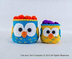 Ravelry: Owl Crochet Baskets - 2 sizes pattern by Carolina Guzman.