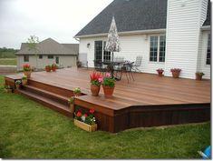 Superb Deck Design Cool Deck Skirting Ideas for Every Home & Yard – 2019 - Deck ideas Cool Deck, Diy Deck, Diy Patio, Patio Table, Backyard Patio Designs, Backyard Landscaping, Backyard Ideas, Low Deck Designs, Patio Ideas