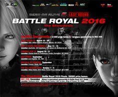 Tournoi Battle Royal 2016 de Dead or Alive 5 Last Round - Le développeur Team NINJA est fier aujourd'hui d'annoncer l'agenda et les récompenses du tournoi officiel Dead or Alive 5 Last Round, Battle Royal 2016. En partenariat avec les organisateurs de ...