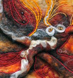 Healy and Burke - Fine art felt piece inspired by butterflies