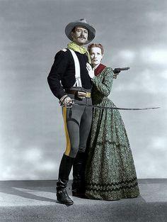 Maureen Ohara and John Wayne in rio grande (Maureen Ohara is from Ireland!)