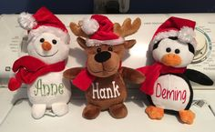 Hey, I found this really awesome Etsy listing at https://www.etsy.com/listing/256294486/personalized-christmas-stuffed-animals