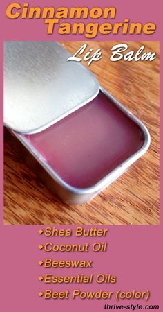 Make your own lip balm... It's cheap, easy, beautiful and it is so smooth! It contains shea butter, coconut oil, beeswax, and essential oils (plus beet powder for color!). I will never buy lip balm again...