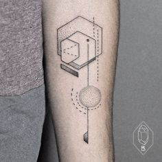 Geometric Tattoo on inner forearm by Bicem Sinik