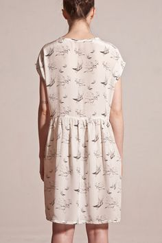 Hand Drawn Bird Printed Dress by ApartofmeAPOM on Etsy