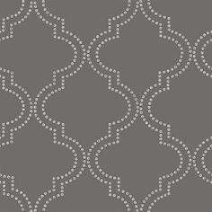Tetra Charcoal Quatrefoil Wallpaper Wallpaper Brewster Wallcoverings Grays Silver Dots Wallpaper Geometric Wallpaper Ogee Wallpaper Trellis Wallpaper, Non-Woven, Easy to clean , Easy to wash, Easy to strip Trellis Wallpaper, Wallpaper Panels, Wallpaper Samples, Wallpaper Designs, Peel And Stick Wallpaper, Wallpaper Roll, Wall Wallpaper, White Wallpaper, Brewster Wallpaper