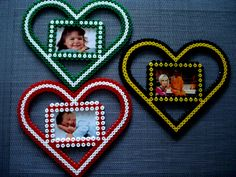 Bilderrahmen aus Hama Bügelperlen - ein Designerstück von suessperle