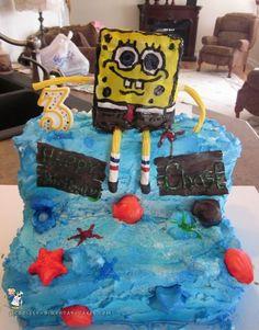 3rd Birthday Spongebob Squarepants Cake... Coolest Birthday Cake Ideas